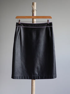 Escada black leather skirt - De'Žavu Boutique