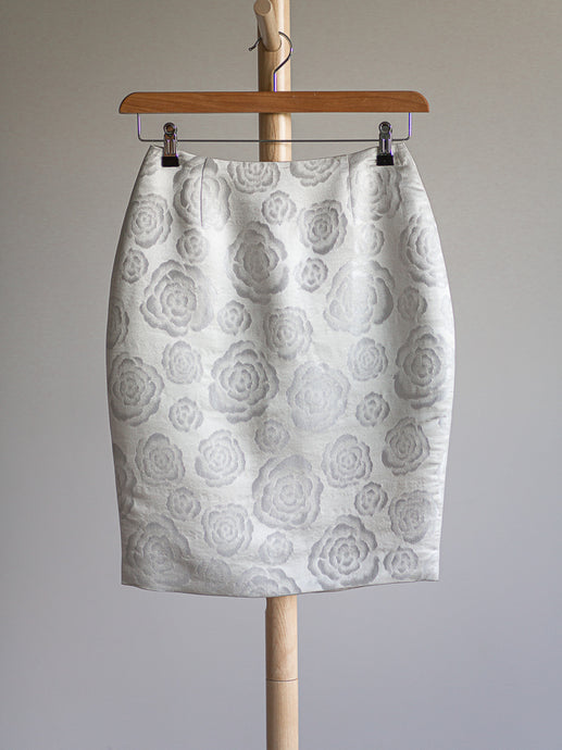 Christian Dior silver skirt - De'Žavu Boutique
