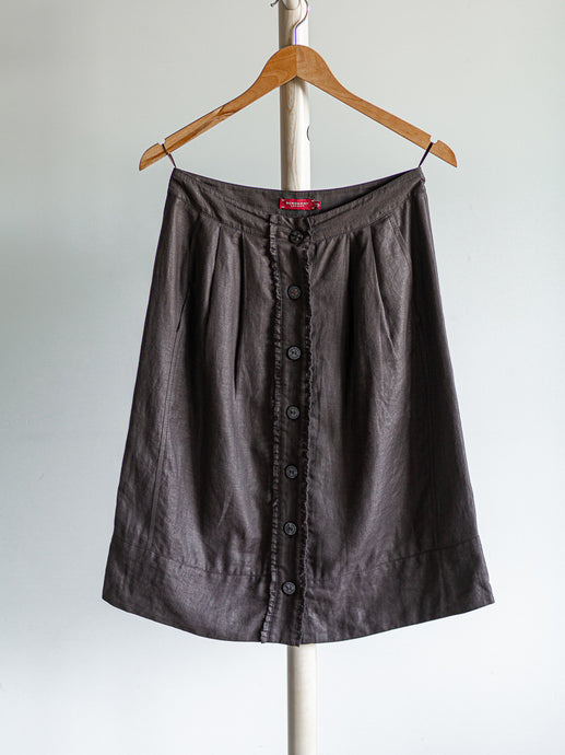 Burberry brown linen skirt - De'Žavu Boutique