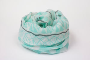 Printed Viscose Cotton Infinity Scarf - De'Žavu Boutique