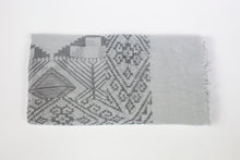 Load image into Gallery viewer, Printed Cotton Viscose Grey Scarf - De'Žavu Boutique