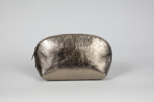 Rose Gold Metallic Leather Cosmetic Case - De'Žavu Boutique