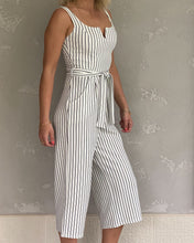 Load image into Gallery viewer, Stripy jumpsuit in white and navy - De'Žavu Boutique