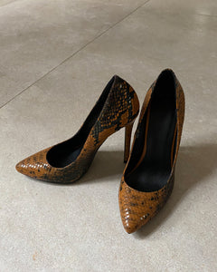 Constantino brown pointed high heels - De'Žavu Boutique