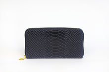 Load image into Gallery viewer, Navy Genuine Leather Wallet - De'Žavu Boutique