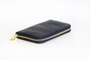 Navy Genuine Leather Wallet - De'Žavu Boutique