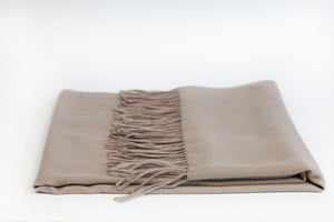 Warm Beige Wool Scarf - De'Žavu Boutique