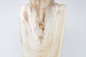 White Gold Geometric Necklace - De'Žavu Boutique
