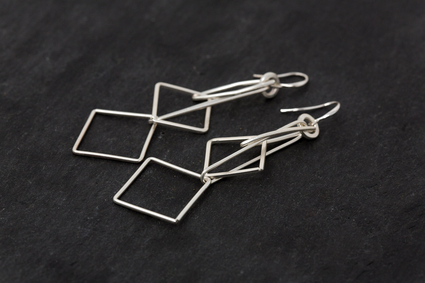 Long Geometric Earrings - De'Žavu Boutique