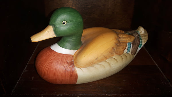Gilde Porzellan (Porcelain) Gorgeous Handcrafted Hand Painted Duck - Treasure Valley Antiques & Collectibles