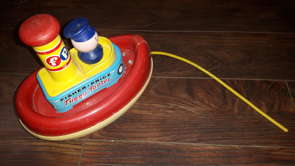 Vintage 1967 Tuggy Tooter Boat Ship Fisher-Price ~Missing Squeezer - Treasure Valley Antiques & Collectibles