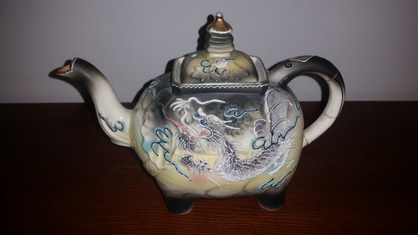 1950s Rare Moriage Satsuma Elephant Dragon Ware Teapot Made in Japan - Treasure Valley Antiques & Collectibles