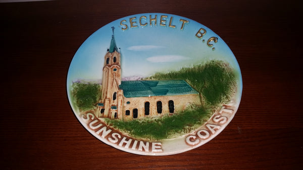 Vintage Collectible Raised Relief Sechelt B.C. Sunshine Coast Decorative Plate - Treasure Valley Antiques & Collectibles