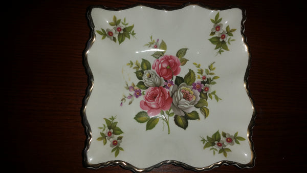 "Vintage Old Foley ""Harmony Rose"" Candy Dish - Treasure Valley Antiques & Collectibles"