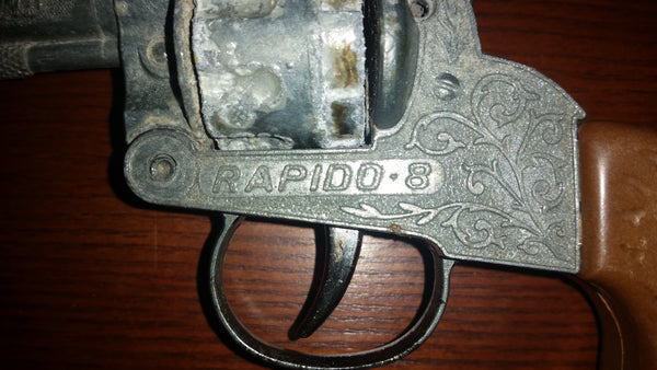 Vintage Lone Star Rapido 8 Diecast Cap Gun Revolver Toy - Treasure Valley Antiques & Collectibles