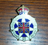 1916 WWI Enamel Service Pin Brooch Imperial Order Daughters of The Empire - Treasure Valley Antiques & Collectibles