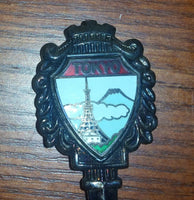 1960s Tokyo Tower Nickel Silver Collectible Spoon - Treasure Valley Antiques & Collectibles