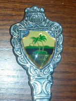 1970s Puerto Rico Palm Tree Island Collectible Spoon - Treasure Valley Antiques & Collectibles
