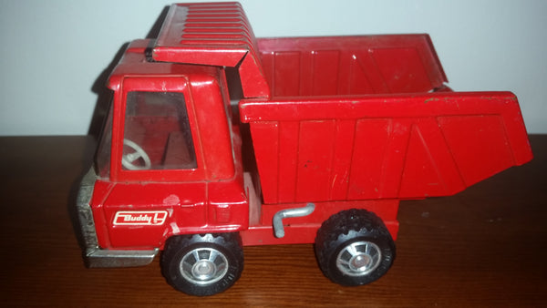 1960s Buddy L Pressed Steel Red Dump Truck - Treasure Valley Antiques & Collectibles