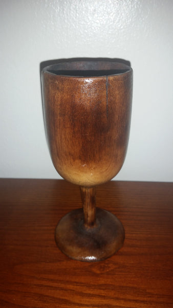 Vintage Wooden Wine Goblet - Treasure Valley Antiques & Collectibles