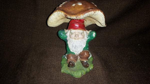 Vintage Dwarphy Products Gnome Under Mushroom - Treasure Valley Antiques & Collectibles