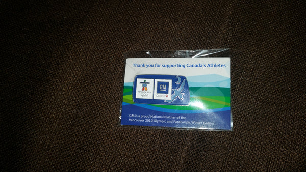 Vancouver Olympics 2010 GM General Motors Lapel Pin in Package - Treasure Valley Antiques & Collectibles