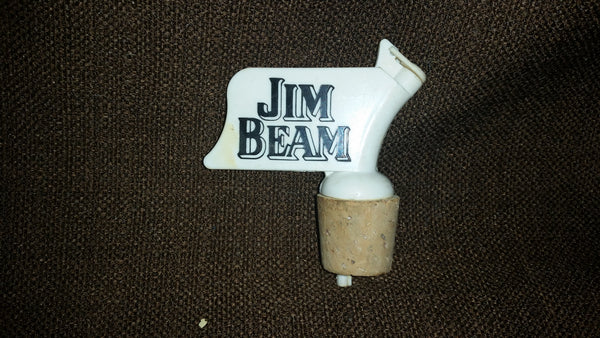 Vintage Jim Beam Whiskey Liquor Bottle Pourer - Treasure Valley Antiques & Collectibles