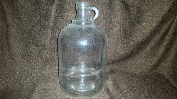 Vintage Clear Glass Wine Moonshine Jug Bottle #9694 - Treasure Valley Antiques & Collectibles