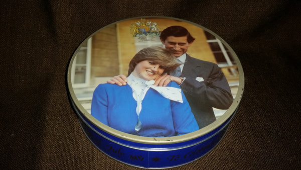 Collectible 1981 Prince Charles and Diana Royal Wedding Huntley and Palmers Biscuits Tin - Treasure Valley Antiques & Collectibles