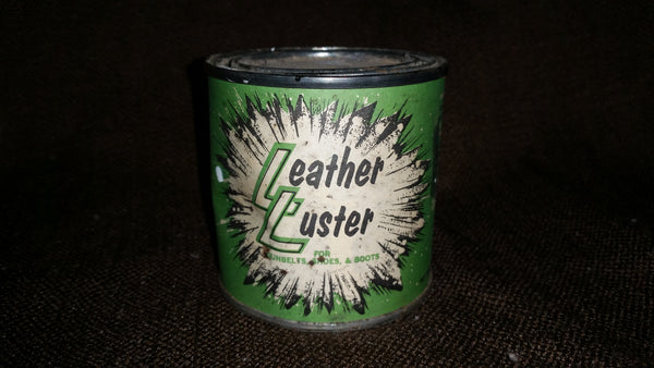 Vintage Rare Find Late 1960s Leather Luster for Gunbelts, Shoes, and Boots Full Unopened Can - Treasure Valley Antiques & Collectibles
