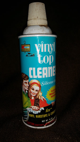 Vintage 1970s KMart Vinyl Top Cleaner Full Spray Can S.S. Kresge Company Troy, Michigan - Treasure Valley Antiques & Collectibles