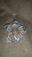 Vintage Crystal Glass Lily Shaped Flower Bud Single Stem Flower Vase - Treasure Valley Antiques & Collectibles