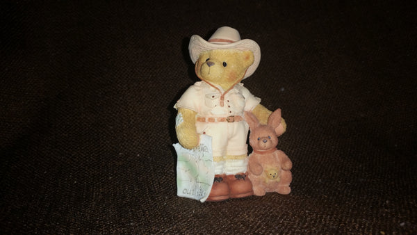 "Cherished Teddies Boy With Kangaroo Figurine Bazza from Australia ""I'm Lost Down Under Without You"" - Treasure Valley Antiques & Collectibles"