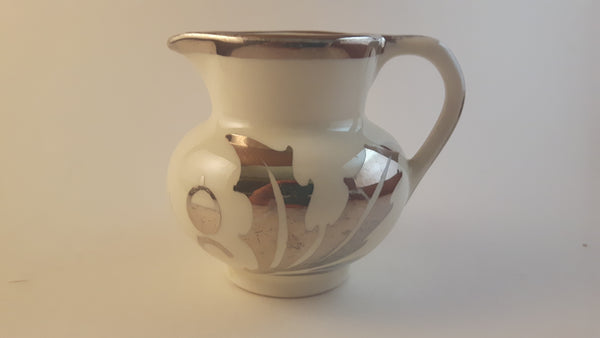 Antique 1920s Lancaster & Sandland English Ware Creamer Pitcher with Silver Trim - Treasure Valley Antiques & Collectibles