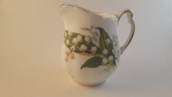 Vintage 1960s Colclough Bone China E4 Floral Creamer with Gold Trim - Treasure Valley Antiques & Collectibles