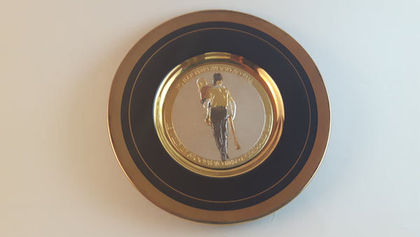 Vintage The Art of Chokin Black Plate 24K Gold Plate - Treasure Valley Antiques & Collectibles