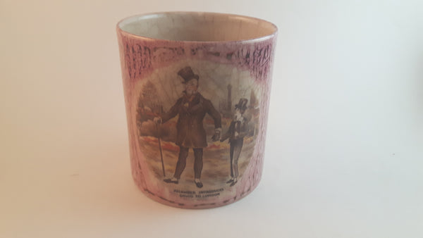 1940s-50s David Copperfield Lancaster & Sandland Sandware Pink Cup - Treasure Valley Antiques & Collectibles