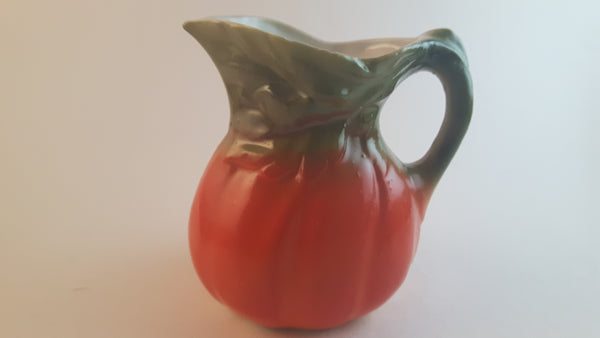 Antique Orange Pumpkin Squash Creamer Porcelain Pitcher - Treasure Valley Antiques & Collectibles