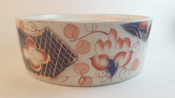 Antique 19th Century Gaudy Welsh Imari Colors Pattern 2955 Muffin Serving Dish No Lid - Treasure Valley Antiques & Collectibles