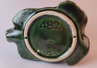 1960s McCoy Pottery USA Green Bear Planter Mold 482 - Treasure Valley Antiques & Collectibles