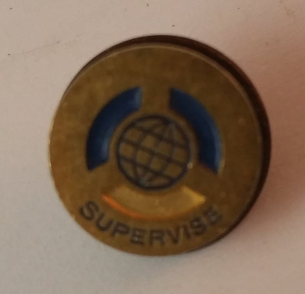 Vintage Globe Supervise Supervisor Pin - Treasure Valley Antiques & Collectibles