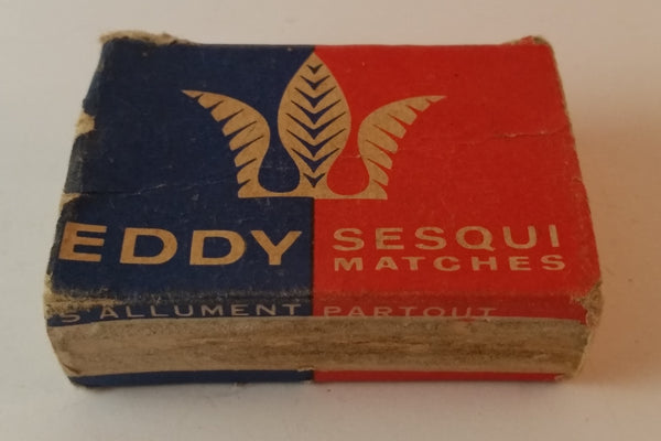 Vintage 1950s Eddy Sesqui Matches Pocket Size Empty - Treasure Valley Antiques & Collectibles