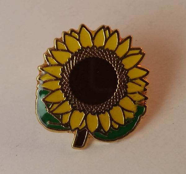 Vintage Sunflower Enamel Collectible Lapel Pin - Treasure Valley Antiques & Collectibles
