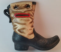 Vintage 1970s Japan Made Cowboy Boots Bank Ceramic Coin Bank Set with Plugs - Treasure Valley Antiques & Collectibles