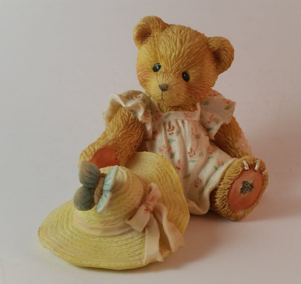 "Cherished Teddies Bear With Butterfly And Hat Figurine ""Springtime Is A Blessing"" - Treasure Valley Antiques & Collectibles"