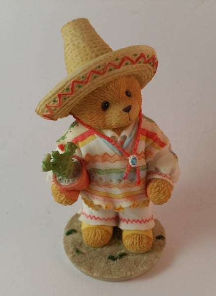 "Cherished Teddies Boy Holding Cactus Figurine Mexico ""I Found An Amigo In You"" - Treasure Valley Antiques & Collectibles"