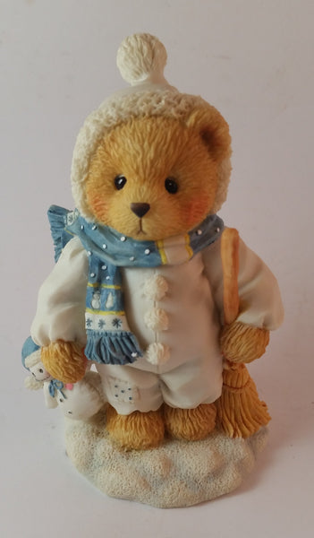 "Cherished Teddies Boy Dressed As Snowman Figurine Earl ""Warm Hearted Friends"" - Treasure Valley Antiques & Collectibles"