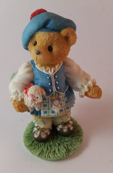 "Cherished Teddies Girl Holding Lamb Figurine Scotland ""Our Love Is In The Highlands"" - Treasure Valley Antiques & Collectibles"