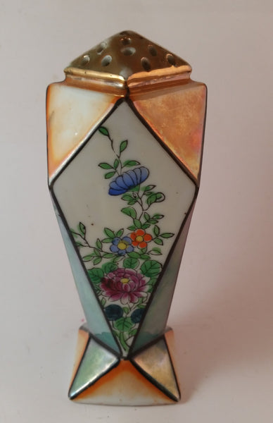 Vintage Hand Painted Art Deco Noritake Lustreware Sugar Shaker Made in Japan - Treasure Valley Antiques & Collectibles
