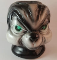 Vintage Green Eyed Evil Skunk Head Candle Holder - Treasure Valley Antiques & Collectibles